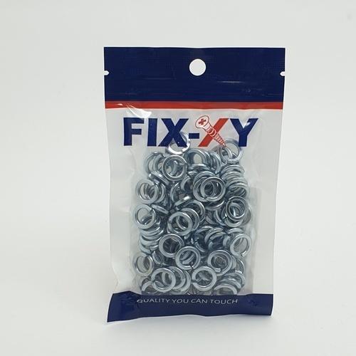 FIX-XY แหวนสปริง M8 EM-005 (100ชิ้น/แพ็ค) สีโครเมี่ยม