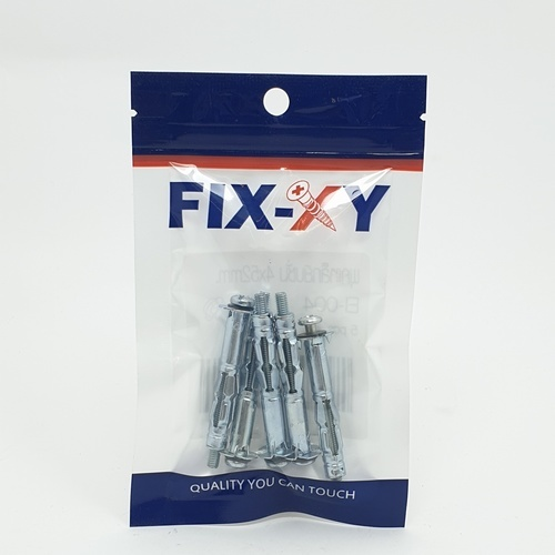 FIX-XY พุกเหล็กยิปซั่ม 4x52mm. EI-004(5pcs/Pack) สีโครเมี่ยม