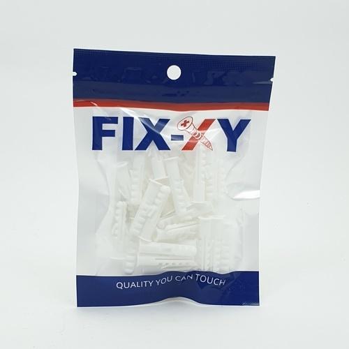 FIX-XY พุกพลาสติก เบอร์7 (30ชิ้น/แพ็ค) EN-024-S สีขาว