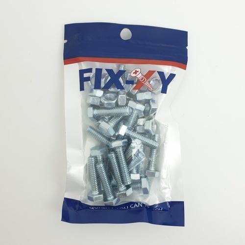 FIX-XY สกรูเกลียวมิล 1/4x1 (20ชิ้น/แพ็ค) EF-012 สีโครเมี่ยม