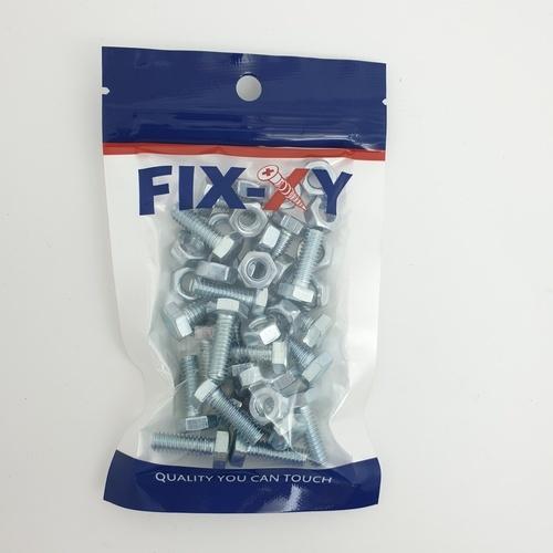 FIX-XY สกรูเกลียวมิล 1/4x3/4  EF-011 สีโครเมี่ยม