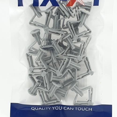 FIX-XY พุกยิบซั่ม เบอร์8 (20ชิ้น/แพ็ค) EN-018-L สีขาว