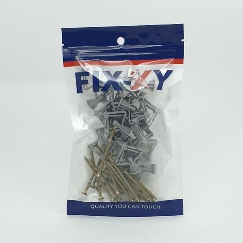 FIX-XY พุคยิบซั่ม เบอร์ 8 พร้อมสกรู   EN-017-L (20ชิ้น/แพ็ค)