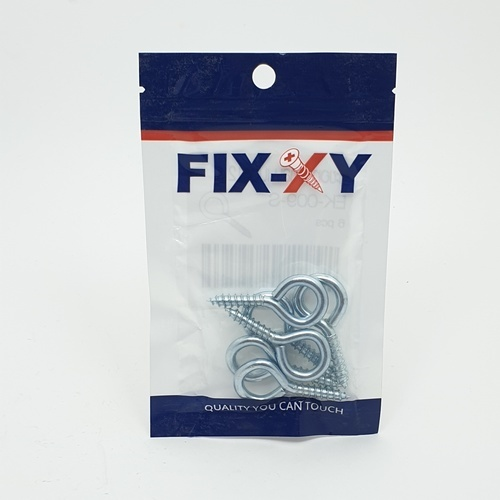 FIX-XY ตะขอห่วงกลม เบอร์12 EK-009-S สีโครเมี่ยม