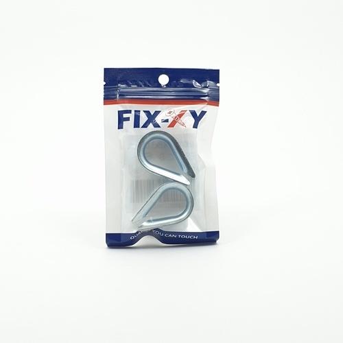 FIX-XY ปลอกสลิง 4.8x3.1x1cm. (2ชิ้น/แพ็ค) ES-002-S