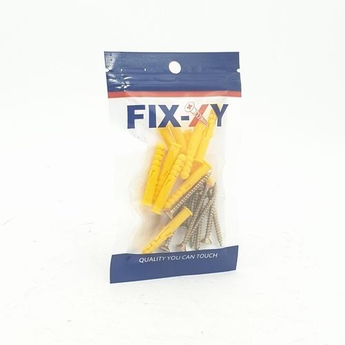 FIX-XY พุกพลาสติก เบอร์ 6 พร้อมสกรู  (10ชิ้น/แพ็ค) EN-003-CS สีม่วง