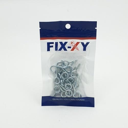 FIX-XY ตะขอห่วงกลม  เบอร์5  EK-005-S (30ชิ้น/แพ็ค)