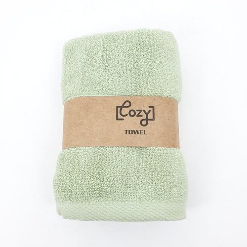 LUXUS ผ้าขนหนู 34x75ซม.สีเขียว Cozy BQ006-LGN  ขาว
