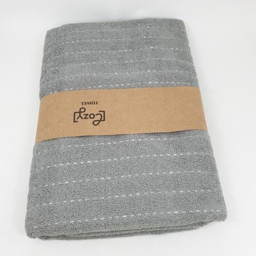 LUXUS ผ้าขนหนู 70x140ซม.สีเทา Cozy GTL007-GR  ขาว
