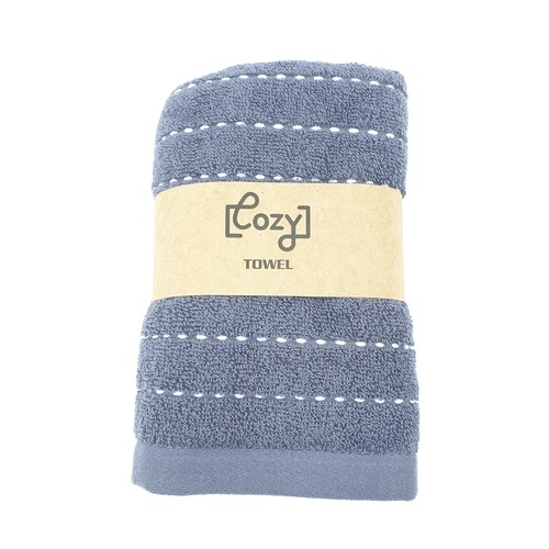 COZY ผ้าขนหนู 34x75ซม.  GTL006-BL สีกรม