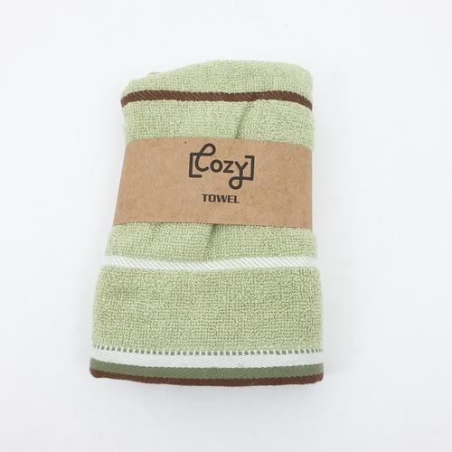 LUXUS ผ้าขนหนู 34x75ซม. สีเขียว Cozy GTL003-GN  ขาว