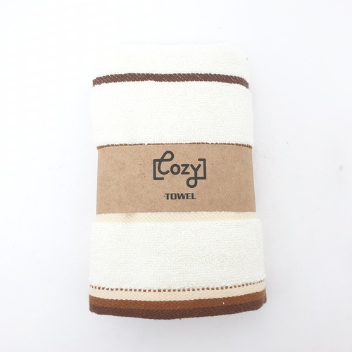 LUXUS ผ้าขนหนู 34x75ซม. สีเหลือง Cozy GTL003-YE  ขาว
