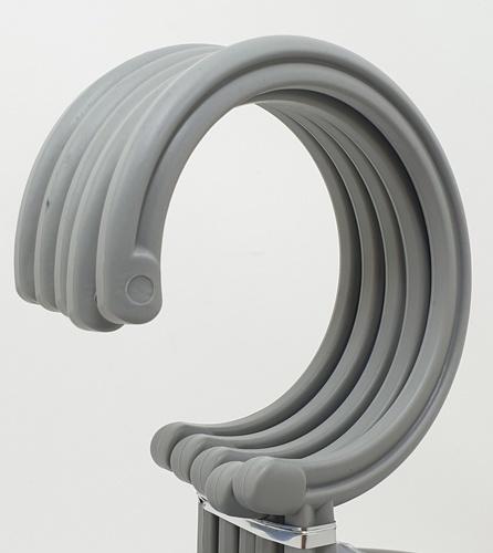 LUXUS ไม้แขวนผ้าพลาสติก  5ชิ้น/แพ็ค   EJK003-GR สีเทา