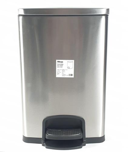 ICLEAN ถังขยะขาเหยียบ ความจุ 20ลิตร สีเงิน EED013-430SL