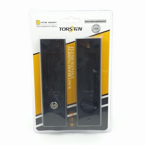 TORSTEN มือจับบานเลื่อนประตูพร้อมอุปกรณ์ PQS-JT85B1 สีดำ