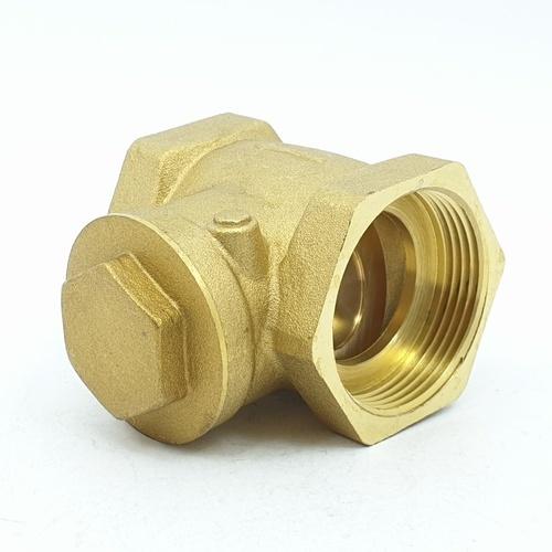 VAVO เช็ควาล์วสวิงทองเหลือง YF-4055  1 1/2 สีเหลือง