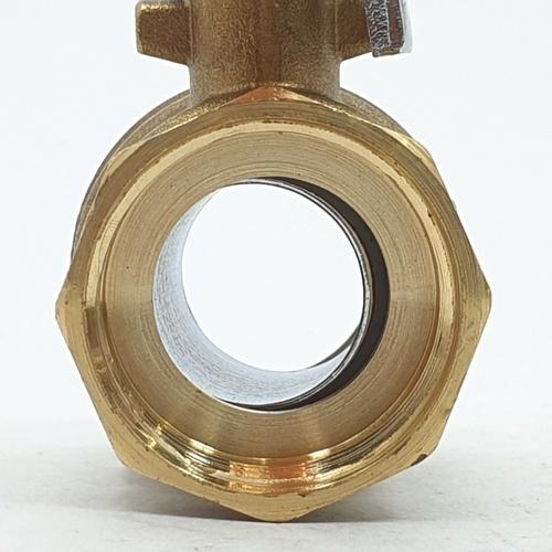 VAVO บอลวาล์วทองเหลือง YF-5022 1  สีโครเมี่ยม