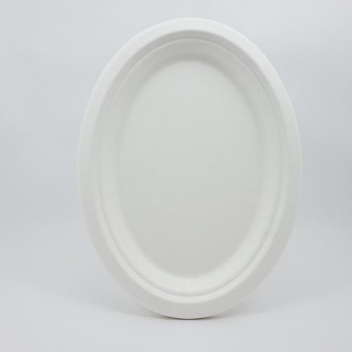Nibiru จานทรงรี Size L 19.5x26x2.2cm 10ใบ/แพ็ค FJDB032