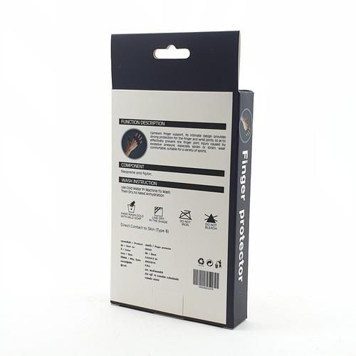 FORTEM ปลอกนิ้ว  DK002 ขนาด 3x4x0.20 ซม บรรจุ 10ชิ้น/แพ็ค สีดำ.