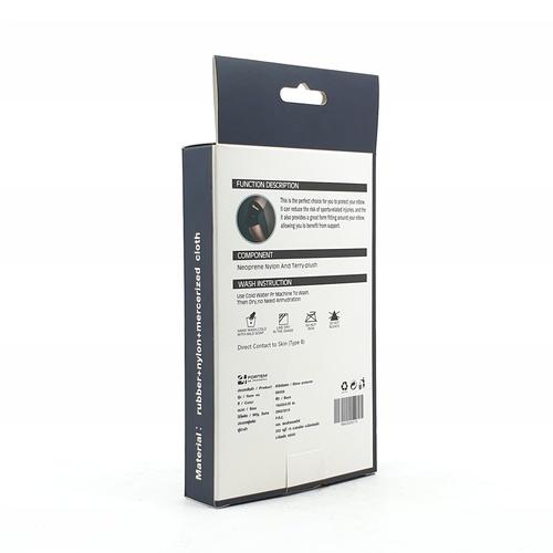 4TEM ผ้ารัดข้อศอก  DK009 ขนาด18x52x0.25 ซม.สีดำ.