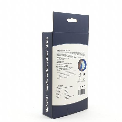 4TEM ผ้ารัดข้อศอก ขนาด 13x22x0.20 ซม. DK011 สีขาว