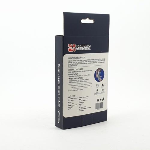 4TEM ปลอกรัดข้อเท้า   DK021 ขนาด 8.5x24x0.20 ซม.สีขาว