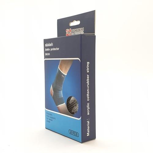 FORTEM สนับข้อเท้า  DK030 ขนาด 9x22x0.20 ซม.บรรจุ 2ชิ้น/แพ็ค สีเทา.