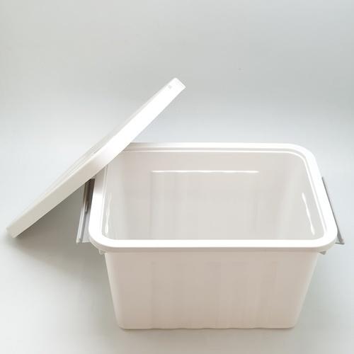 GOME กล่องเก็บของพลาสติกมีฝาปิด ขนาด 28x39x24ซม.  SGY040 สีเทา