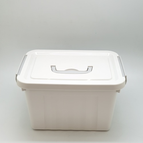 GOME กล่องเก็บของพลาสติกมีฝาปิด ขนาด 33x45x29ซม. SGY041 สีเทา