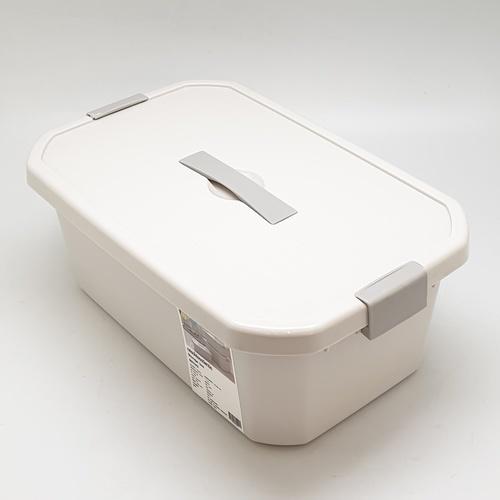 GOME กล่องเก็บของพลาสติกมีฝาปิด ขนาด 18x28x11ซม. SGY043 สีเทา