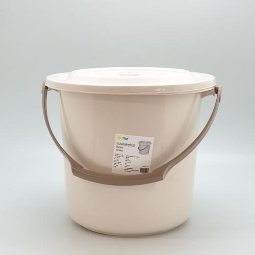 - ถังพลาสติกพร้อมฝา ขนาด 24x24x21 รุ่น  EDS064 สีขาว  ขาว