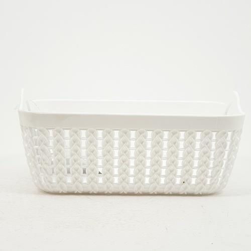 GOME  ตะกร้าพลาสติกเล็กเหลี่ยม  ขนาด 14x19.5x8.5ซม.  EY007-WH  สีขาว