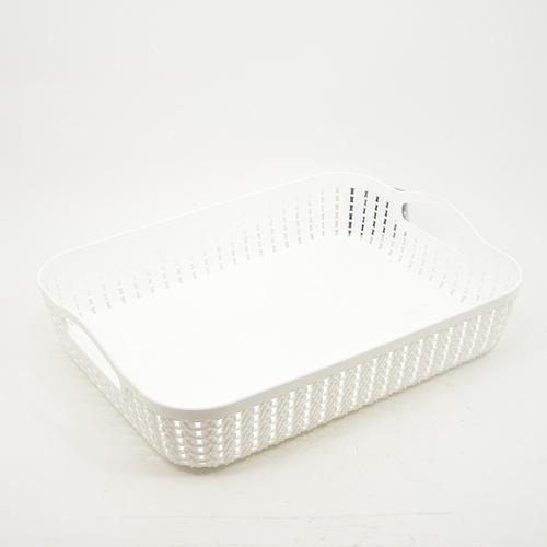 GOME ตะกร้าพลาสติก ขนาด 26.5x35.5×8.5ซม.  EY009-WH สีขาว