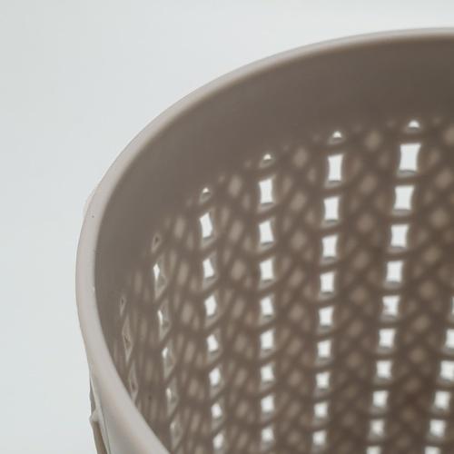 - ตะกร้าพลาสติกกลม  ขนาด 10x10x11ซม.  EY011-GY สีเทา