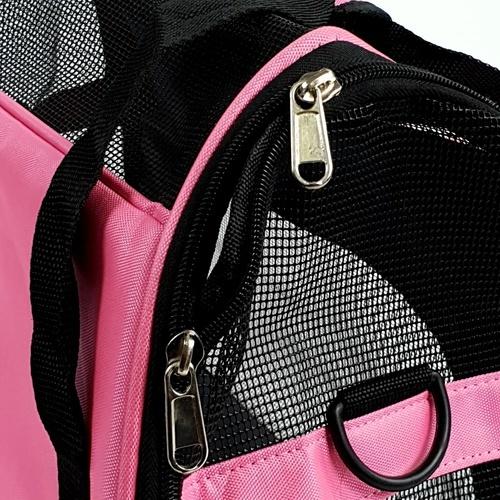 DUDUPETS กระเป๋าใส่สัตว์เลี้ยงแบบพกพา รุ่น PTC001S ไซส์ S  ขนาด 30x43x20ซม. สีชมพู DUDUPETS  PTC001S ขาว