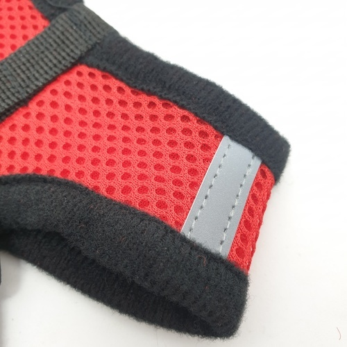 DUDUPETS สายจูงแบบเต็มตัวปรับระดับ ไซส์ S  ขนาด 18.5x110x 2 ซม.   PT011S สีแดง