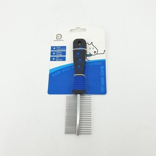DUDUPETS แปรงขนสัตว์เลี้ยง ขนาด 5.2x20x2ซม. ใช้ได้สองด้าน GR007 สีฟ้า