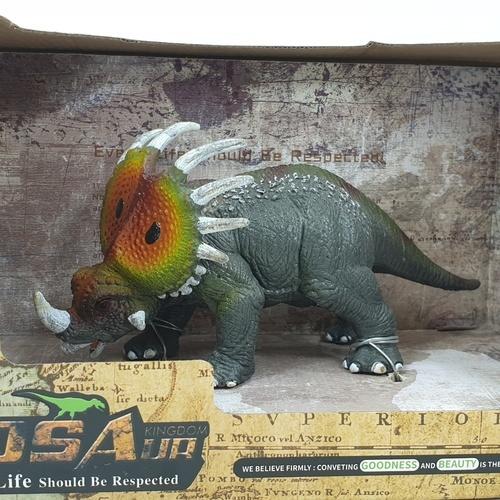 Sanook&Toys ไดโนเสาร์สไตราโคซอรัส  X3051  สีเทาอ่อน