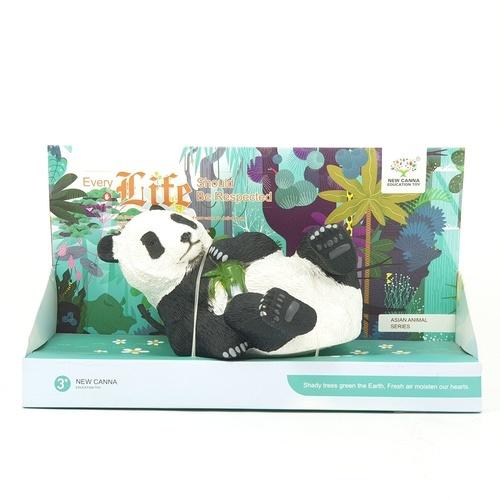 Sanook&Toys  แพนด้าไม่ไผ่จำลอง  ขนาด 10*28*16.6cm X181 สีดำ
