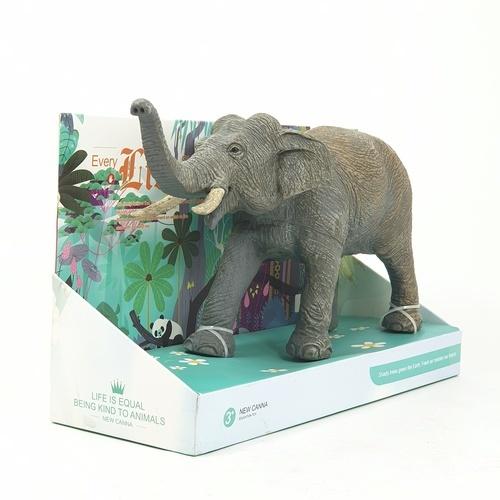 Sanook&Toys ช้างจำลองขนาด 12 นิ้ว ขนาด 10*28*16.5cm  X136  สีเทาอ่อน