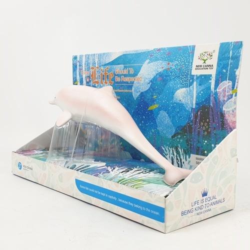Sanook&Toys โลมา 9 นิ้ว  ขนาด 10*28*16.5cm  X102 สีชมพู