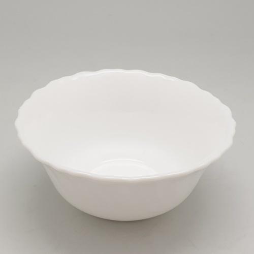 ADAMAS ถ้วยโอปอลขอบริ้ว  4 - สีขาว