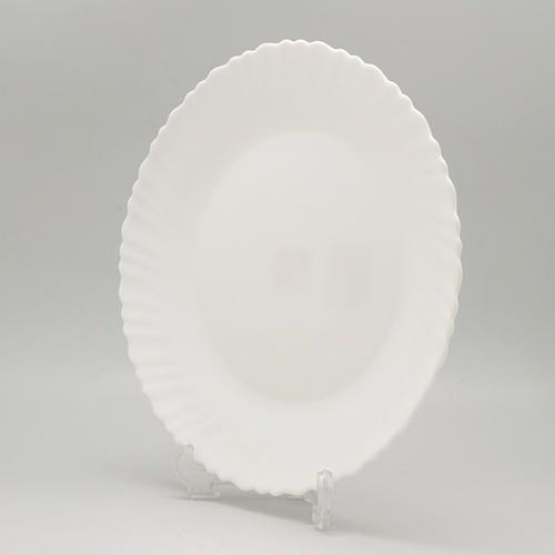 ADAMAS จานโอปอลขอบริ้ว 9.5  HBTP95-H0 สีขาว
