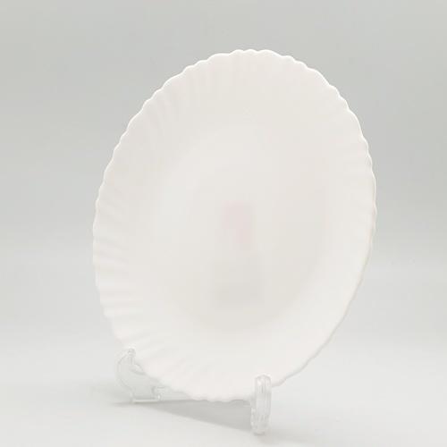 ADAMAS จานโอปอลขอบริ้ว สีขาว 7.5 HBTP75-H0 สีขาว