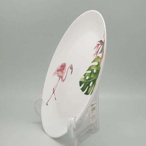 ADAMAS จานโอปอล ลายฟามิงโก้ 10.5 QP105-2401 สีขาว