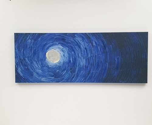 NICE รูปภาพพิมพ์ผ้าใบ Abstract-Painting  ขนาด  94x36 ซม. (ก.xส.) C9436-12