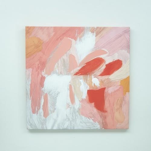 NICE รูปภาพพิมพ์ผ้าใบ Abstract-Painting ขนาด  50x50 ซม. (ก.xส.) C5050-4