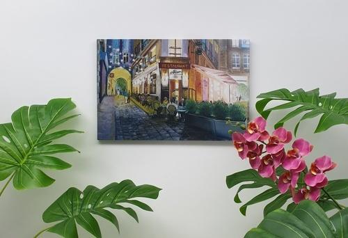 NICE รูปภาพพิมพ์ผ้าใบ Restaurant ขนาด  60x40ซม. (ก.xส.) C6040-4