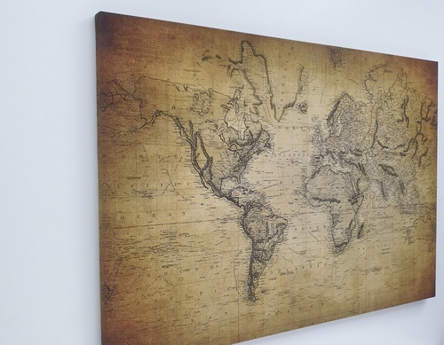 NICE รูปภาพพิมพ์ผ้าใบ Map ขนาด 100x70 ซม. (ก.xส.) C10070-2