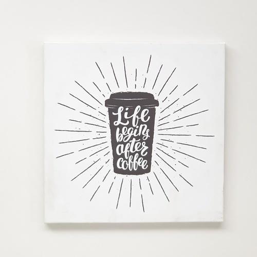 NICE รูปภาพพิมพ์ผ้าใบ Coffee Shop ขนาด 40x40ซม. (ก.xส.) (ถ้วยกาแฟ) C4040-1